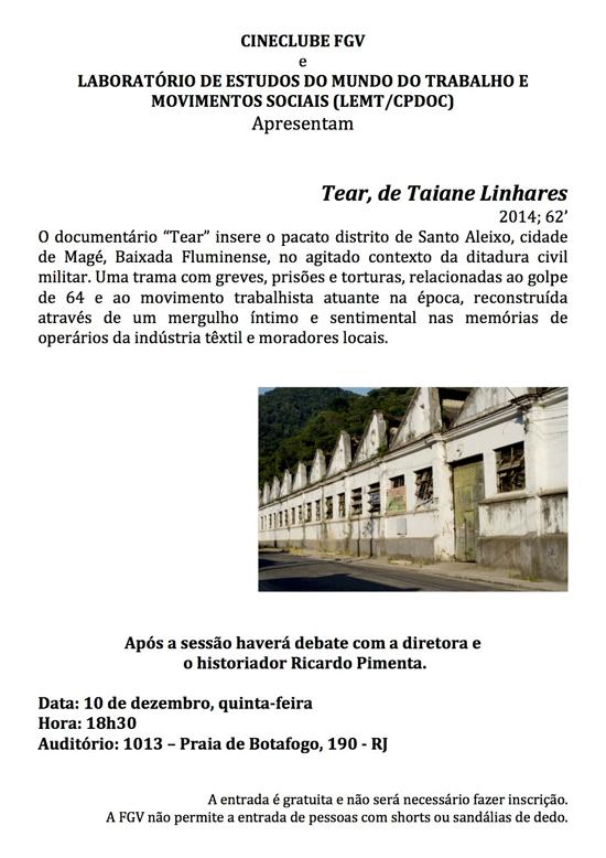 Sessão Cineclube: Tear, de Taiane Linhares