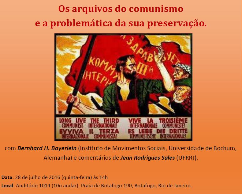 Palestra: Os arquivos do comunismo e a problemática da sua preservação