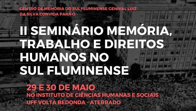 II Seminário Memória, Trabalho e Direitos Humanos