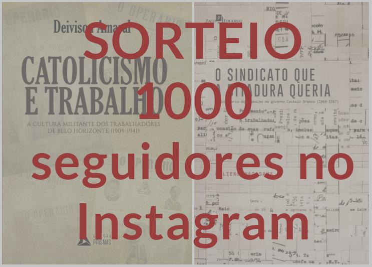 LEHMT atinge 1000 seguidores no Instagram e sorteará livros no dia 22/07